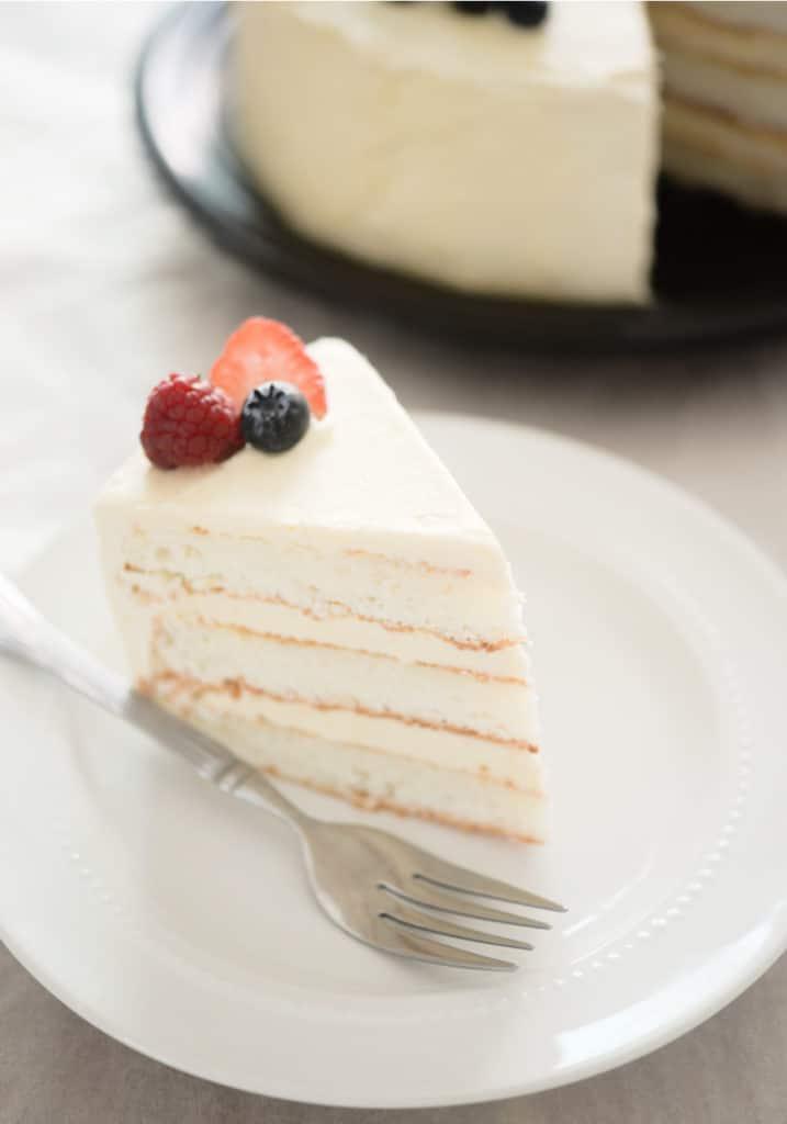 white coconut flour cake