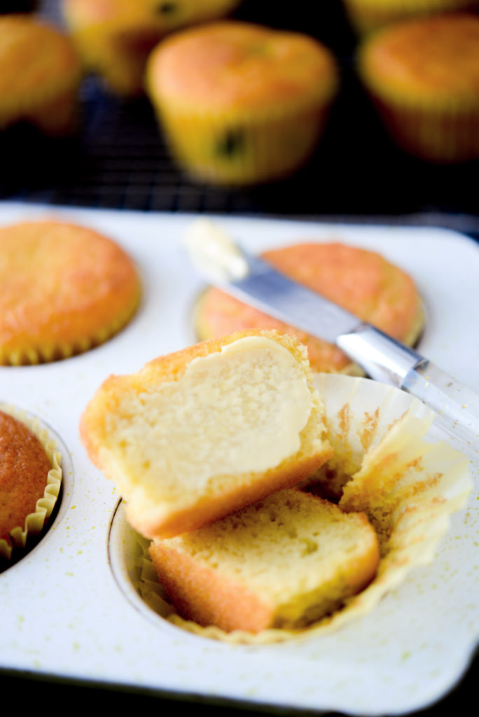 muffin pan with coconut flour muffins