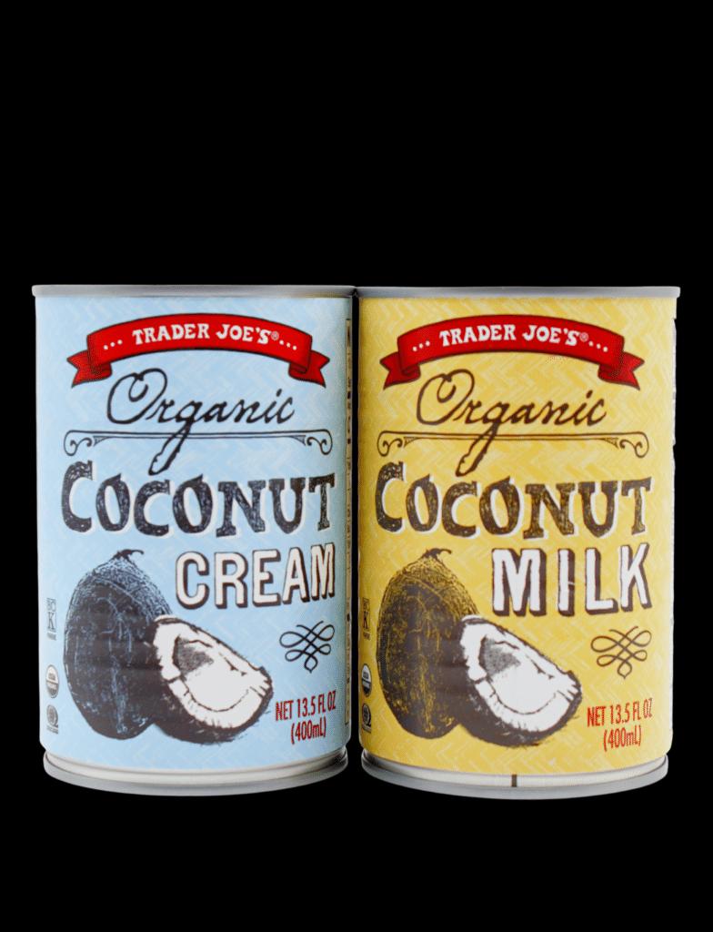 canned coconut milk vs coconut cream