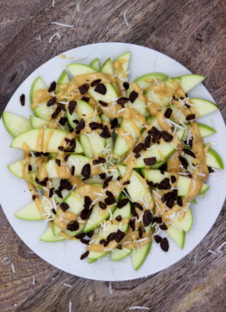 plate topped with paleo apple nachos