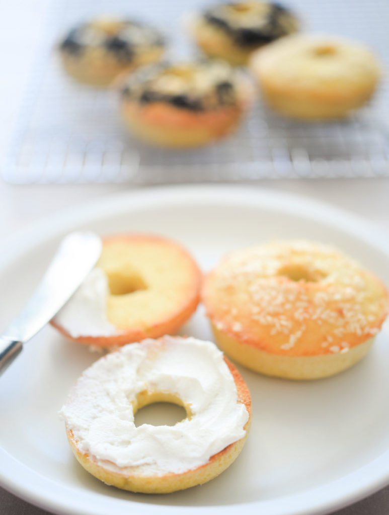 coconut flour bagels with cream cheese