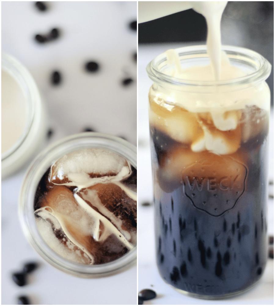 making thai iced coffee