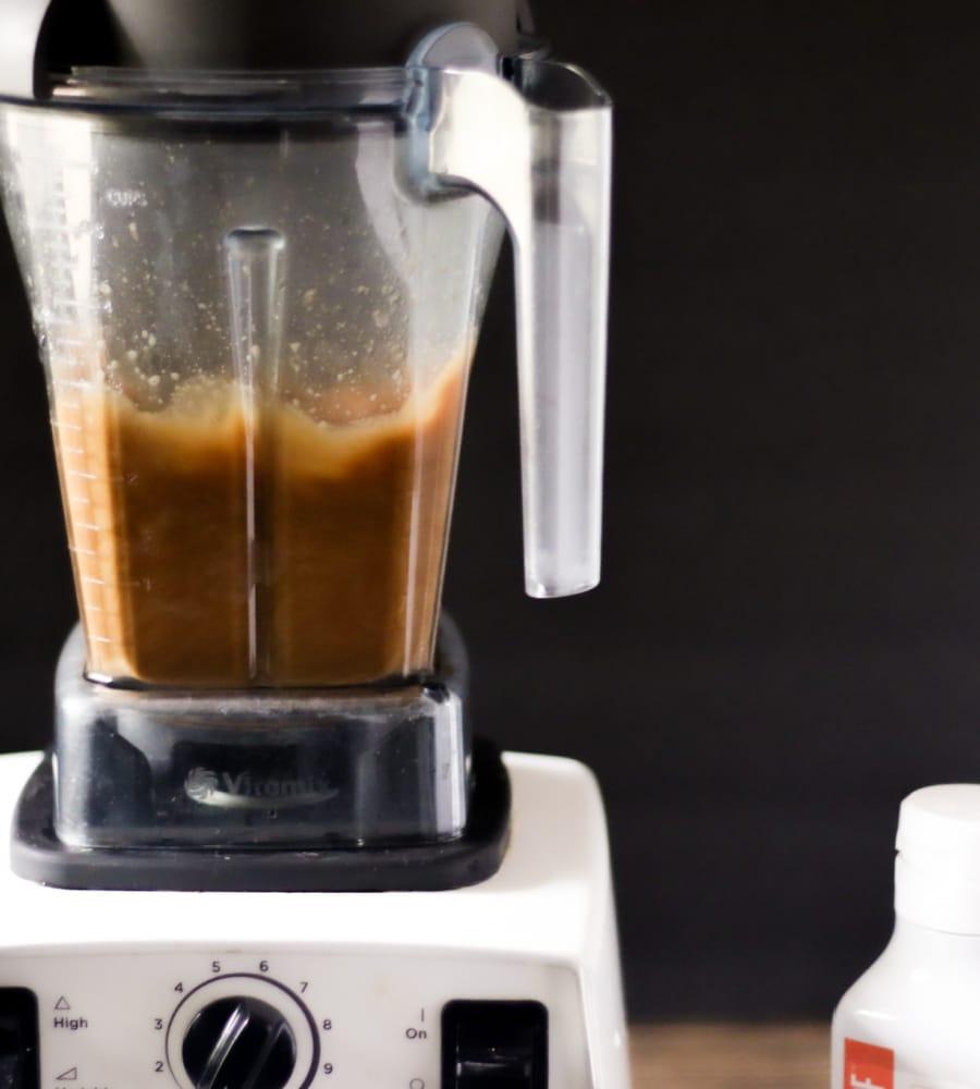 blending bulletproof coffee