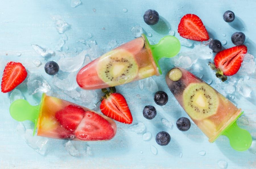 coconut water ice pops