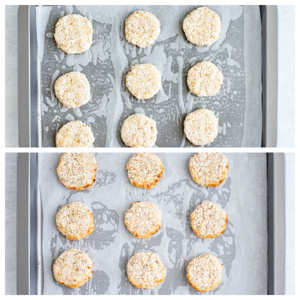baking 3-ingredient coconut cookies