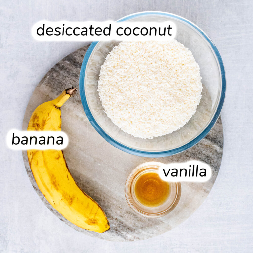 3-ingredient coconut cookies ingredients