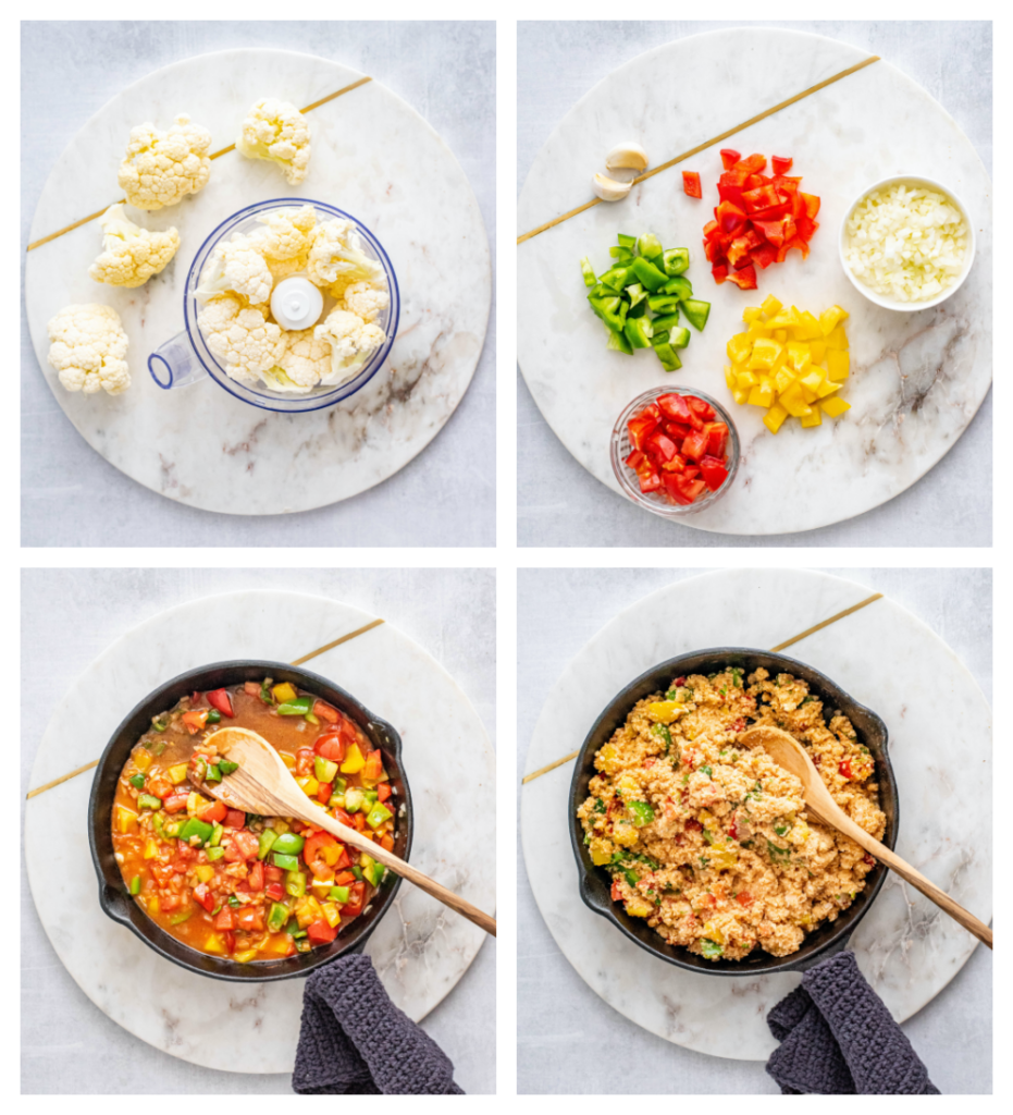 making mexican rice with cauliflower