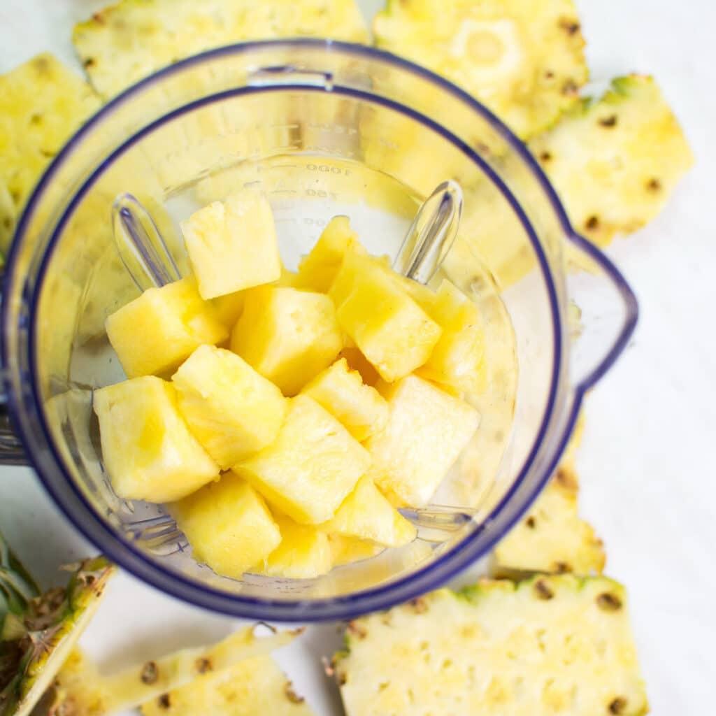 blender full of pineapples