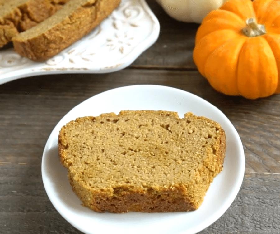Coconut flour pumpkin bread, sliced