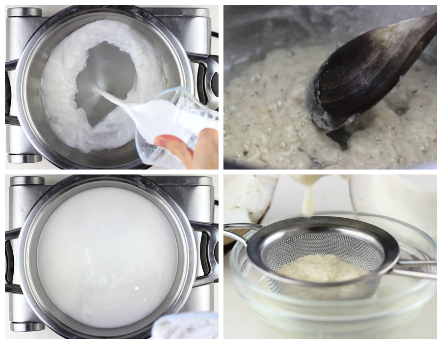 making coconut oil from fresh coconuts