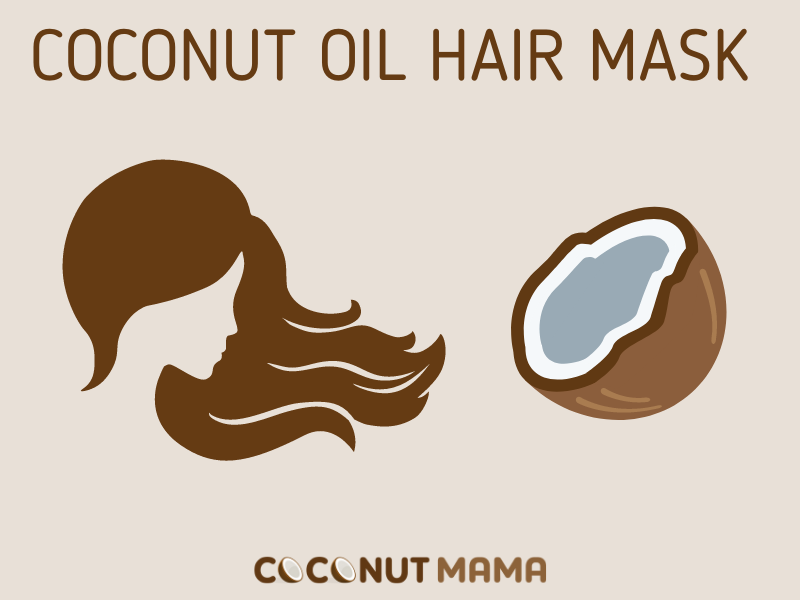 This coconut oil hair mask will repair your hair and leave it feeling smooth and shiny!