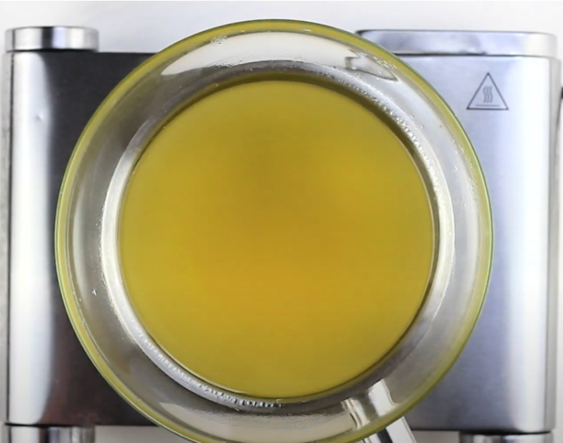 bowl with melted oils
