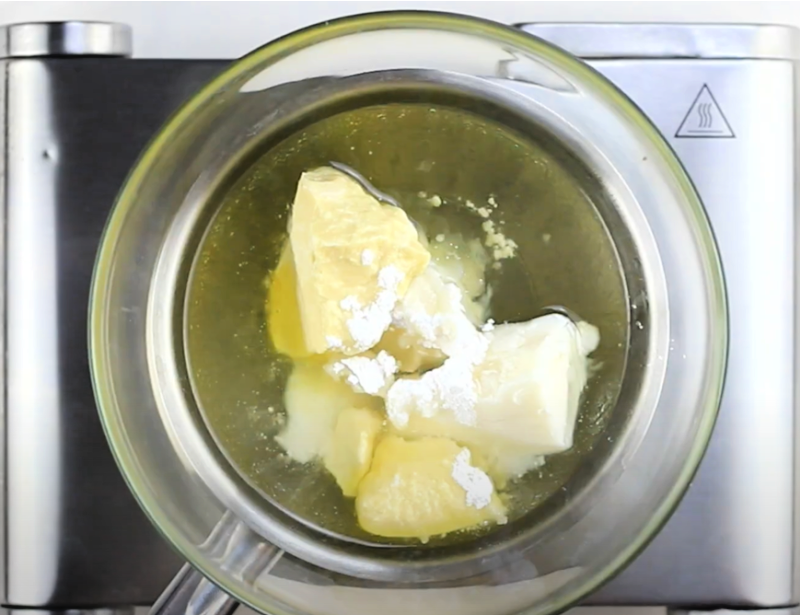 bowl with body butter ingredients