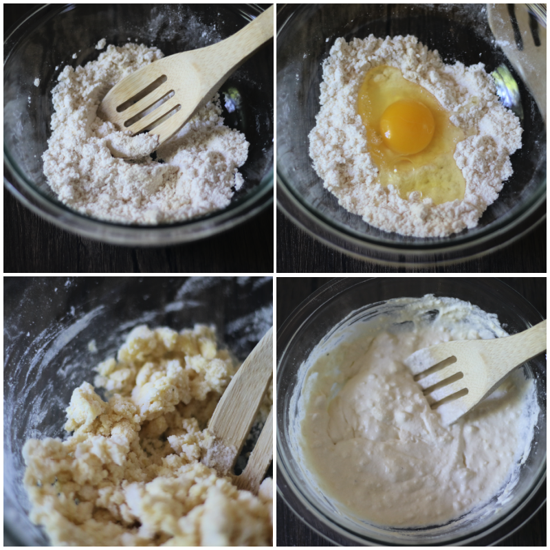 making coconut flour biscuits