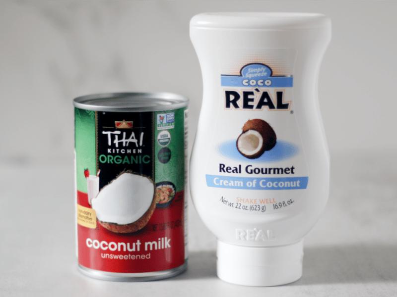 cream of coconut vs coconut milk