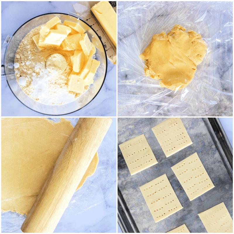 steps for making keto graham crackers