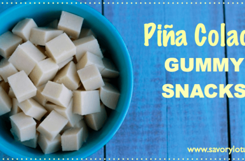 Piña Colada Gummy Snacks from The Savory Lotus