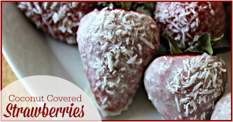 Coconut Covered Strawberries