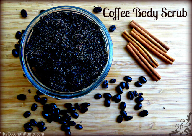 Coffee Body Scrub with Coconut Oil from The Coconut Mama