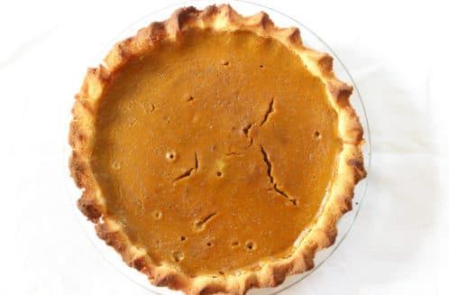 Healthy Gluten Free Pumpkin Pie from The Coconut Mama