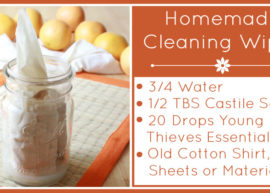 Homemade Cleaning Wipes with Essential Oils from The Coconut Mama