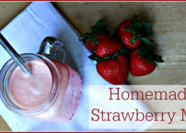 Homemade Strawberry Milk from The Coconut Mama