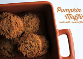 Coconut Flour Pumpkin Muffins, made with coconut flour!