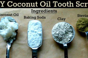 Homemade Coconut Oil Tooth Scrub from The Coconut Mama